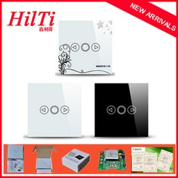 Wholesale Touch Wall Switch China - Wholesale-50%OFF China Hilti Free shipping UK Dimmer Switch,1Year warranty,Glass Panel Wall Light Switch with Dimmer and Touch Function
