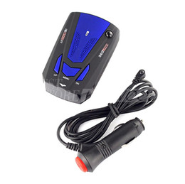 Wholesale Voice Gps - Hot Sale!!360-Degree Car Speed Radar Detector Voice Alert Detection Shaped Safety for Car GPS Laser LED