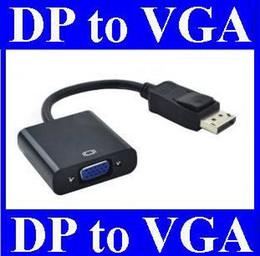 2019 cable de extensión tipo b usb 100 unids / lote * Thunderbolt Display Port DisplayPort DP Macho a VGA Hembra Convertidor Cable Adaptador PC Portátil