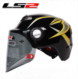 Wholesale Ls2 Helmets Yellow - 2015 new LS2 summer half face ls2 OF128 Motorcycle helmet Electric bicycle helmets Adjustable size Made of ABS for Men and women