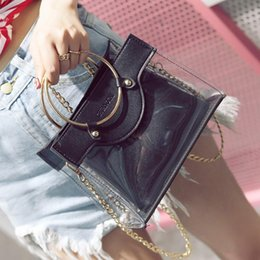 Wholesale Designer Style Rings - New Arrival Women's Bags Handbags Designer Women PU Leather Fashion Jelly Bag Wild Ring Handbag Chain Small Ladies Shoulder Messenger Bag