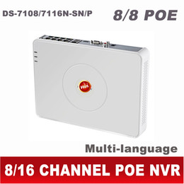 Wholesale Digital Video Recorder Ch - NVR POE 8CH 16CH HD IP 1080P CCTV digital network video recorder ds-7108n-sn p ds-7116n-sn p ds 7108 ds-7108n 8 16 CH Channel