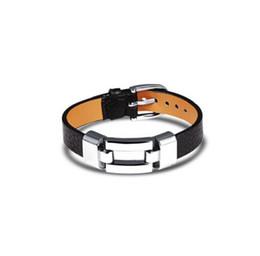 Bracelets de charme en cuir pour femme homme personnalité noir / rouge couleur en acier inoxydable femmes hommes bijoux bracelet cadeau PH985 ? partir de fabricateur