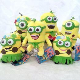 Wholesale Minions 25cm - Despicable Me 3 Minions Hawaii Hula plush toys doll soft stuffed toys for kids 18cm 25cm ZJ1191