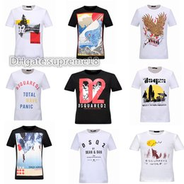 Wholesale New Boys T Shirts - New Fashion DSQ2 Letters T-shirts Men WOMEN Cartoon Anime T Shirt O Neck Short Sleeve Tops Cotton T-shirt Boy Girl Funny D2 T shirt