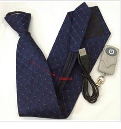 Wholesale Spy Necktie Camera - HD Necktie Camera Neck Tie Spy Hidden Video Recorder Remote Control DVR with Motion Detection 4GB Memory Build In