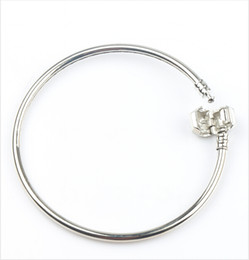 Wholesale Diy Fashion Bead Bracelets - Fashion 4styles New 925 Silver Vogue SP Bangle Bracelets Fit European Charm Beads chains Jewelry DIY