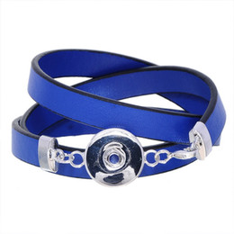 Wholesale Coloured Belts Leather - 2015 Neon Colour Leather Noosa Chunks Leather Bracelets Band Belt Snap Button Noosa Charm Bangles For Man Women Christmas Jewelry