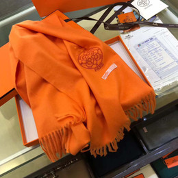 Wholesale Men Cashmere Scarfs - Luxury Brand Winter ladies Scarf Women and Men 100% Two Side Wool Scarf Fashion Women 2017 Designer Warm Scarves HOT SALE