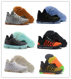 Wholesale Kd Size 12 Men - Wholesale New KD10 low Oreo Kevin Durant 10s KD 10 X black blue men basketball shoes sports sneakers outdoor trainers size 7-12