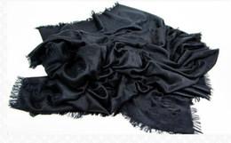 Foulards carrés pour femmes en Ligne-Vente chaude 2014 femmes mode Top marque soie + laine foulards carrés / musulman Hijab châles M71329 noir livraison gratuite