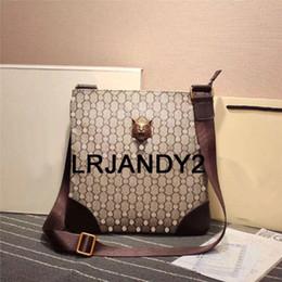 Wholesale Mens Designer Leather Handbags - Quality AAAAA 2017 Brand Designer Mens Crossbody Genuine Leather Handbags Blue Brown Briefcase Leisure Shoulder Bag Messenger Bags