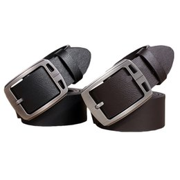 Wholesale Vintage Needles - S5Q Vintage Men' Business Leather Cowhide Belt Pin Buckle WaistBand Casual Belts AAAETF