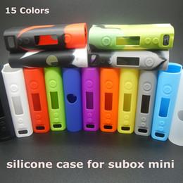 Wholesale Mini Watt - Silicone Case Silicon Cases Bag Colorful Rubber Sleeve protective cover silica gel Skin For kanger kangertech subox mini 50 watt box mod