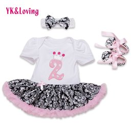 Wholesale Girls Lace Dresses Rompers - Wholesale- Summer Cute Newborn Baby Girls Dresses Patchwork Rompers Tutu Ruffled Cartoon Vestidos Infant Girl Birthday Party Dress Z443