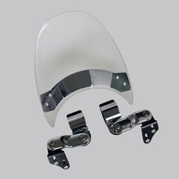 Wholesale clear windshield - Motorcycle Windshield WindScreen For 1993-2005 Harley Dyna Wide Super Glide FXDWG Sport FXDX FXD Low Rider FXDL 98 02 03 Clear