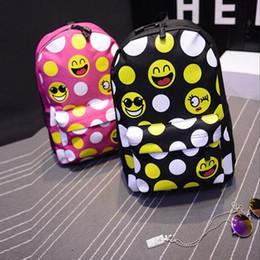 2019 stampa smiley 10 pz DHL Nuovi Bambini Emoji Zaini Carino Nylon Smiley Emoji Face Printing Schoolbag Borse Studente di Fumetto per Bambini Bambini EMJ018 sconti stampa smiley