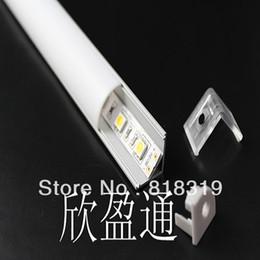 Wholesale Led Tube Housing - Wholesale-DHL FEDEX  EMS Free shipping- LED profile corner housing +5050  5630 chips Tube Bar light