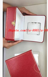 Wholesale Red Paper Gift Bags - Factory Supplier High Quality Red Brand Original Box Papers Gift Watches Boxes Leather Bag Card For Watch Boxes