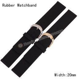 Wholesale Silicon Rubber Watch Strap - Wholesale-20mm NEW High quality DIVER BLACK Smooth Silicon RUBBER WATCH STRAP BAND FOR Hours Quartz watch thin strap soft free shipping
