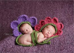 Wholesale Twin Prop - crochet newborn Long Tail Hat,BABY ELF PIXIE hat SPECIAL flower,baby girls Hat newborn hat caps PHOTO PROP 0-1m,3-4m baby Twin flower hat
