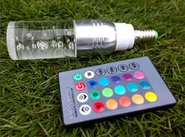 lâmpadas de base de cristal Desconto Cristal RGB LED Spot Lâmpada 3W E27 E14 Lâmpada Base de Parafuso 85-265V 16 Cor Mudando Holofotes com Controle Remoto 2 Anos de Garantia 3 Watt