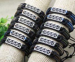 Wholesale Turtle Bracelet Men - mens bracelet 12 PCS lot free shipping Men turtles Cuff Surfer Tribal MultiWrap Wrist Leather Bracelet