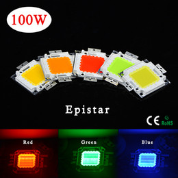 Wholesale High Powered Watt Led - 1Pcs Full Watt 100W High Power Integrated Chip Bulb LED lamp Bead SMD For DIY Floodlight Grow light White Red Green Blue Yellow