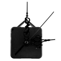 2019 fern-portable alarm Neue Kreative Retro Schwarz Hände Quarzuhr Movement Mechanism Teile Reparatur Ersetzen DIY Ätherisches Set Leise Stille