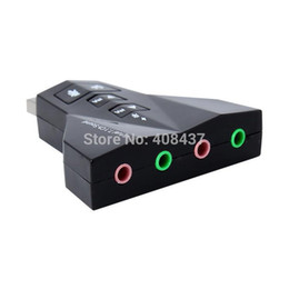 Wholesale Desktop Shaped Usb - External USB Sound Card 7.1 Channel In Air plane Shape Audio Adapter For Laptop Desktop With Dual Input Output Jack With Mute Volume Control