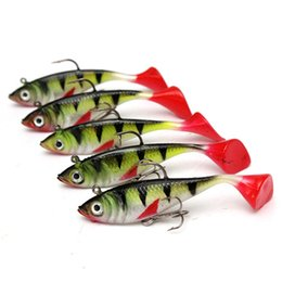 Wholesale Led Sea - Hot 5pcs lot 11g Fishing lures sea fishing tackle soft bait luminous lead fishing artificial bait jig wobblers rubber silicon