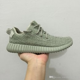 Wholesale Bowls Supplies - 2016 Brand Kanye West Real Boost 350 Moonrock Oxford Tan 350 Boost Turtle Dove Grey Classic Version Supply With Box