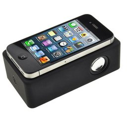 Wholesale Amplified Mp3 Speakers - Mini Portable Speakers Wireless Amplifying Audio Interaction Mobile Induction Speaker for iPhone Samsung Smart Phones