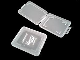 Novo cartão SD portátil Transparente Padrão Titular do Cartão de Memória Caixa de Cartão Casos de Armazenamento Caso para Cartão de Memória SD SDHC de Fornecedores de componentes quadcopter