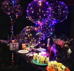 Wholesale High Quality Latex Balloons - High Quality Bobo Latex Balloon 3 Meters Long LED Line Lights Transparent Balloon Christmas Party Decorations Wedding Room Decorations