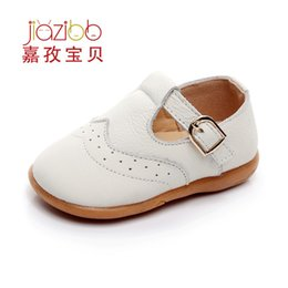 Wholesale T Ox - 0-1-2 Year Baby Grils Shoes Ox Tendon Bottom Children Non-slip Leather Shoes Newborn Study Toddler First Walker Colid Color