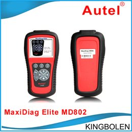 Wholesale Genuine English - Genuine Autel MaxiDiag Elite MD802 All System Advance Graphing OBDII Scan Code Clearing Tool MD 802 Full System Code Reader