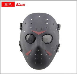 Wholesale Jason Voorhees Face - Free Shipping Cosplay Party Movies Masks Delicated Jason Voorhees Freddy Hockey Festival Halloween Masquerade Face Mask