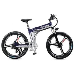 Canada Vélo électrique pliant de 26 pouces, frein à disque hydraulique, cadre en alliage d'aluminium, batterie au lithium puissante, vélo de montagne cheap aluminum disc brakes mountain bikes Offre