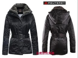 Wholesale Down Feather Jacket - 2016 Italy ms Peuterey feather waist thickening of cultivate one's morality in the rabbit fur collar long women coat down jacket