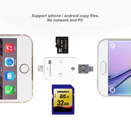 Leitor de celulares on-line-3 em 1 iFlash HD Drive USB 3.0 Micro SD SDHC TF OTG Card Reader para o iphone 5s 6 6 s plus ipad ios dispositivo para todos android celular