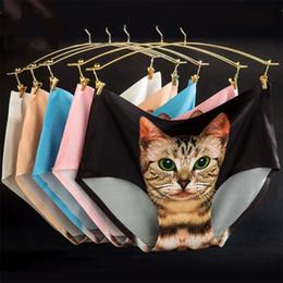 katze damen unterwäsche Rabatt Neueste Damen Unterwäsche 2015 Nette 3D Katze Höschen Sexy Mittlere Taille Unterwäsche Comfort Briefs Tier Höschen Für Frauen Nylon Höschen Geschenke A-0241