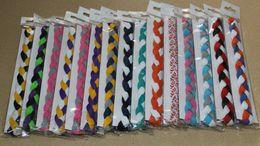 Wholesale Christmas Headband Cheap - 2015 wholesale cheap 3-rope braided nylon stretch sports hair headband for women&girls