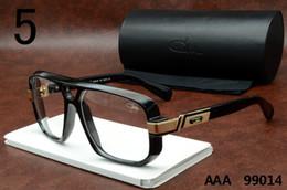 Wholesale Cheap Black Eyeglass Frames - Legends Cazals 99014 Sunglasses Black Frame Clear Lenses Polarized Glasses Famous Brand Cheap Cazals Eyewear Luxury Vintage Eyeglasses