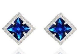 Wholesale Earings Color Diamond - more color diamond square lady's earings (2.4cm) (xgspc)