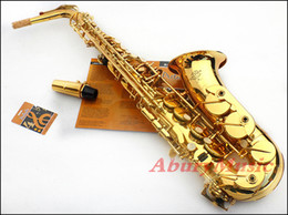 Wholesale Selmer 54 - FREE SHIPPING Selmer French 54 deluxe bE alto saxophone musical instrument electrophoresis golden professional Saxo with case Hot Xmas gift
