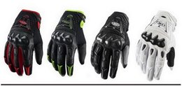 Wholesale Black White Green Motorcycle Gloves - 2015 HOT SALE Carbon Fiber Motorcycle racing gloves motorbike leather gloves Bomber gloves black red Green white color M L XL