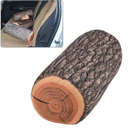 Wholesale Log Novelty Pillow - [2014 NEW] Modern Design travel pillow novelty households Green Log Pillow Wood Grain and Wood Throw Pillow In The Car