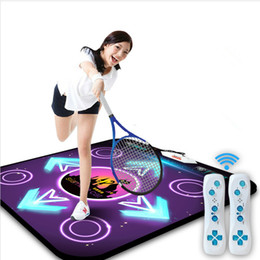 Wholesale Dancing Mats For Tv - New extra large Motion Sensing dance pad blanket dance mat yoga mat for tv pc pad TV play games Fitness,2pcs remote controller