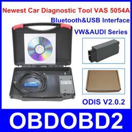 Wholesale Software Vas - Newest Car Diagnostic Tool VAS 5054A Bluetooth&USB Interface VAS5054A With Latest Software ODIS V2.0.2 Multi Languages VAS 5054